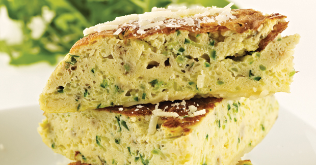 ... fresh herb frittata grated courgette ricotta and fresh herb frittata